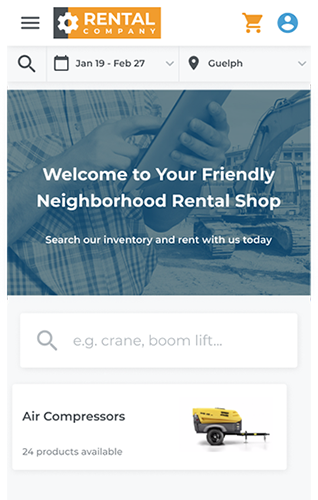 website design platform for rental company